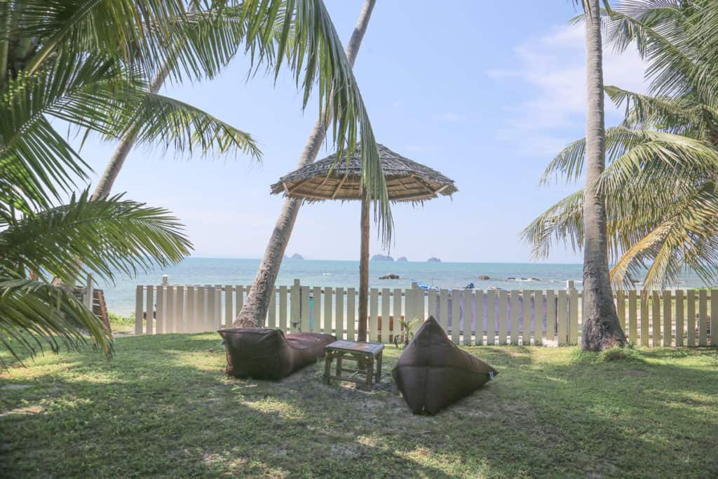 Look at the beach from Futurehippie Koh Samui